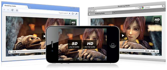 HD video on Chrome, Firefox and iPhone