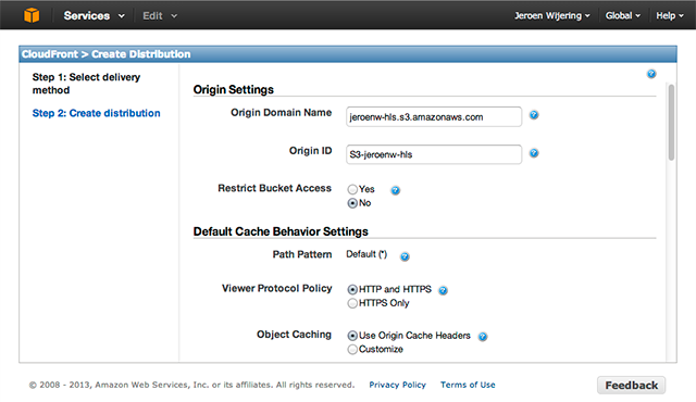 Delivering HLS with Amazon CloudFront | JW Player