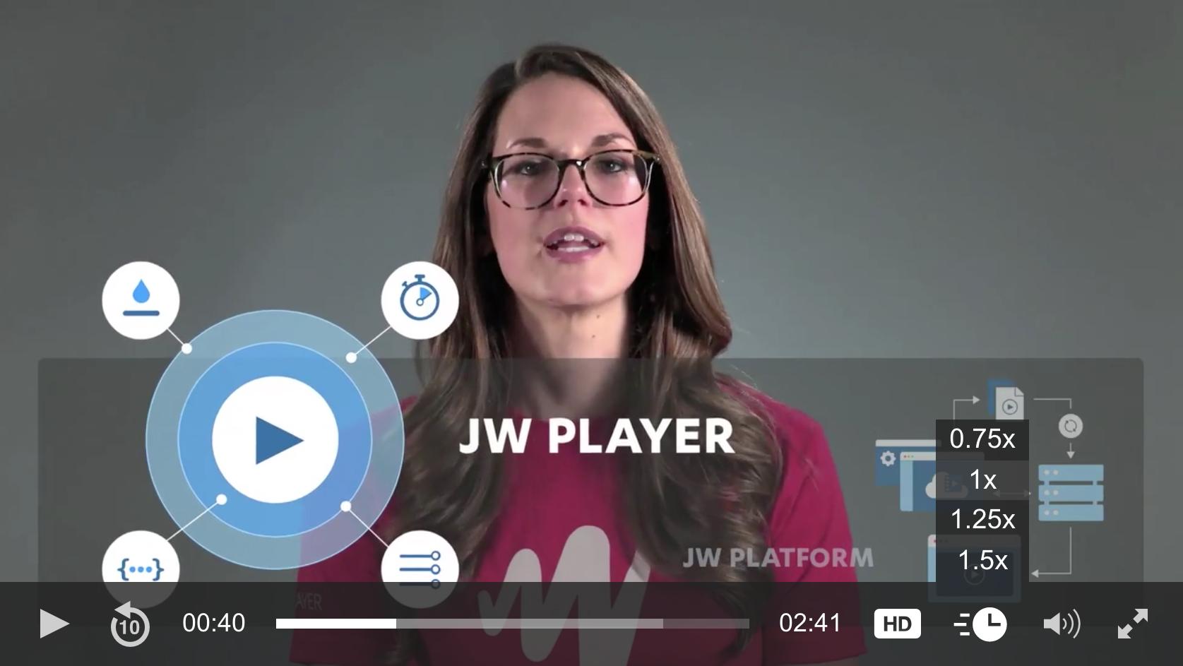 jwplayer playback speed