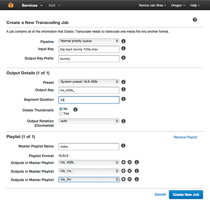 Encoding HLS with Amazon Elastic Transcoder | JW Player