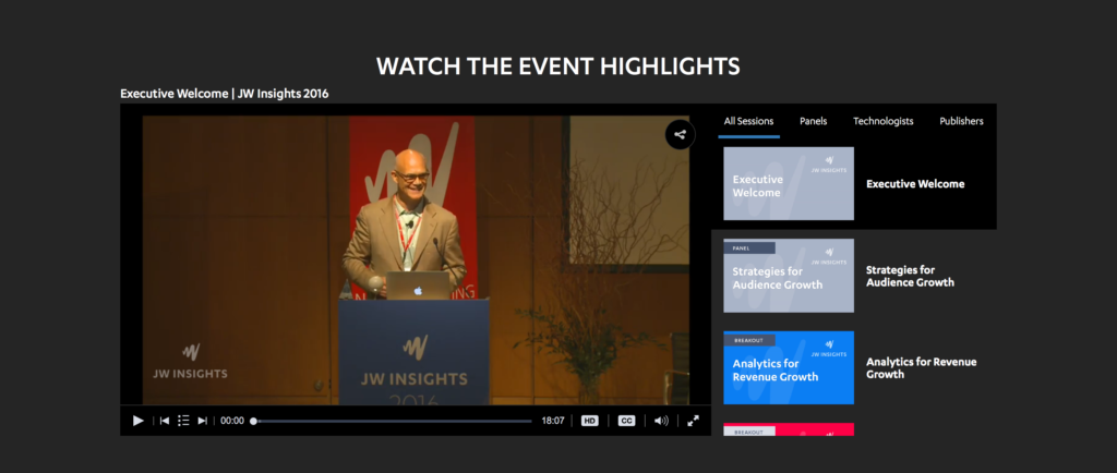 Building The Insights Video Experience | JW Player